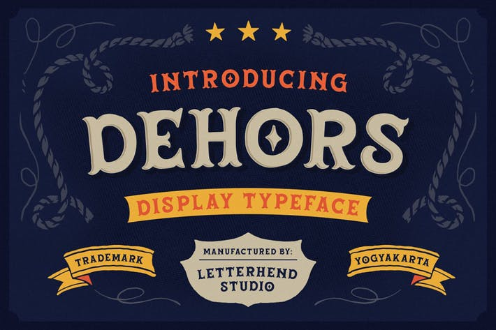 Thumbnail for Dehors - Western Display Typeface