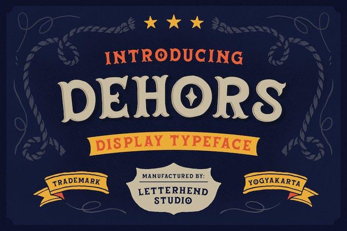 Dehors - Western Display Tipo de letra