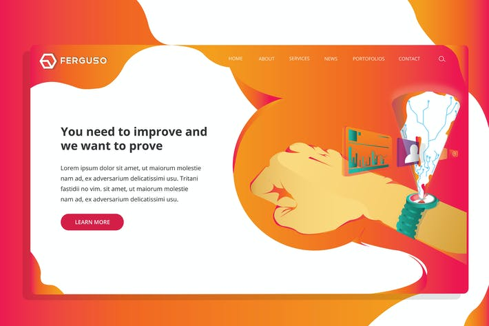 Thumbnail for Ferguso - IT Tech Web Header Template