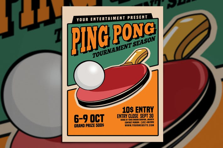 Ping pong tournament flyer by muhamadiqbalhidayat on envato elements ping pong tournament flyer fandeluxe Gallery