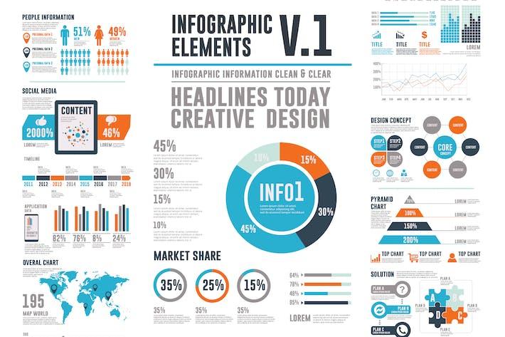 Thumbnail for Infografik Elemente V1
