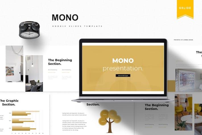 Thumbnail for Mono   Google Slides Template