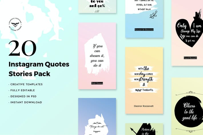 Instagram Quotes Stories Pack by VictorThemes on Envato Elements