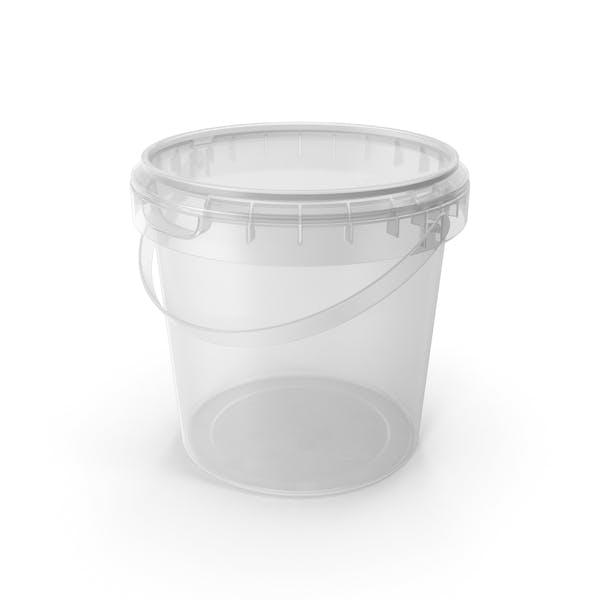Plastic round bucket 600ml