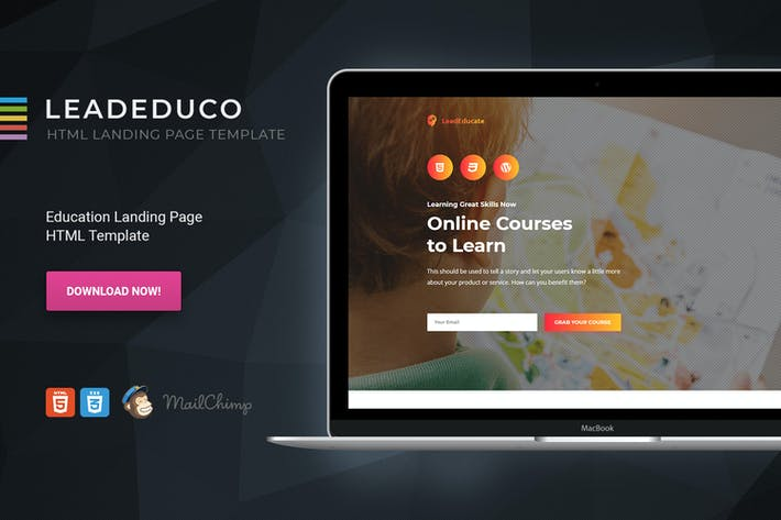 Thumbnail for LeadEduco - Education HTML Landing Page Template