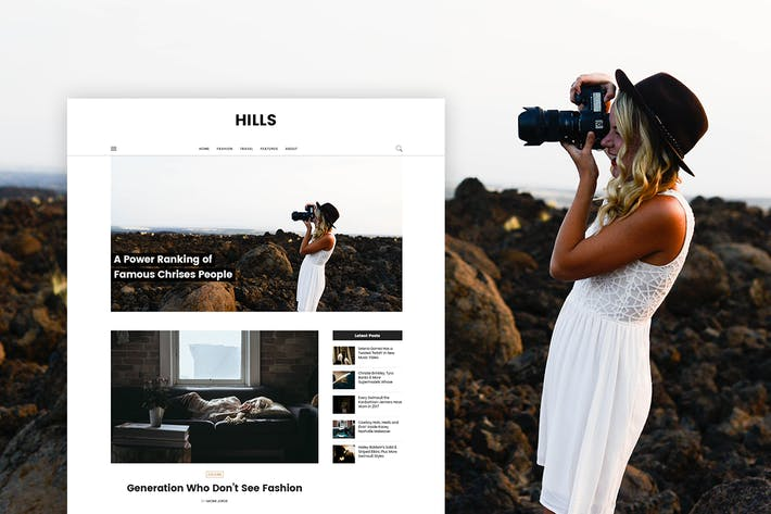 Thumbnail for Hills - Personal Blog Template