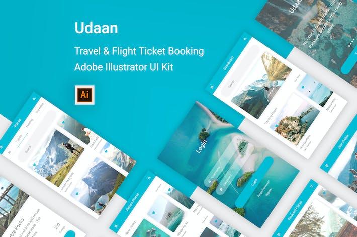Thumbnail for Udaan - Travel & Flight Booking Illustrator App
