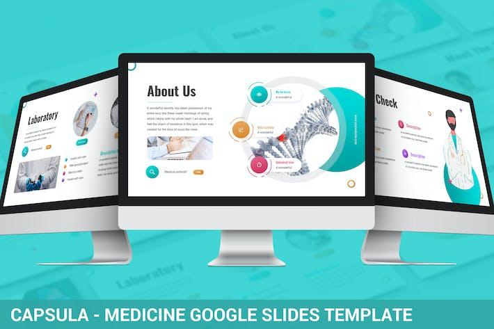 Thumbnail for Капсула - Медицина Google Слайды Шаблон