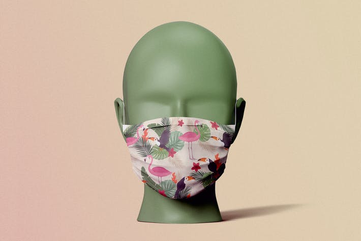 Medical Face Mask Mock-Up Template