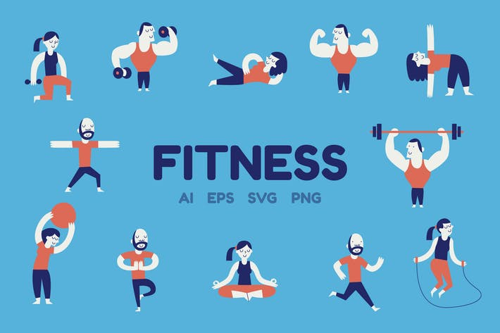 Cover Image For Fitness Characters