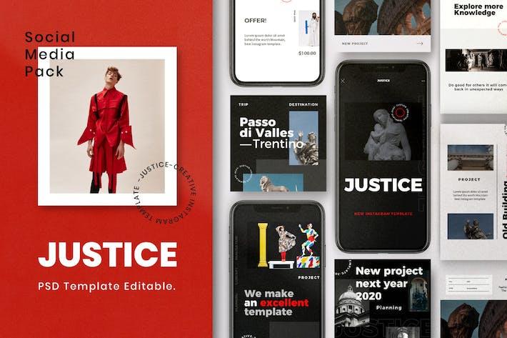 Justice - Insta Story & Post Social Media Vol.1