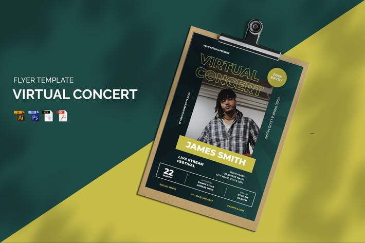 Virtual Concert - Flyer