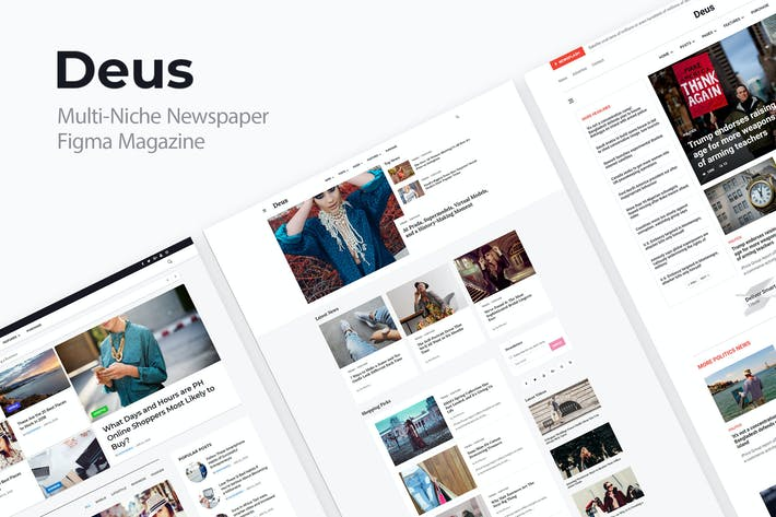 Thumbnail for Deus   Multi-Niche Newspaper Figma Magazine