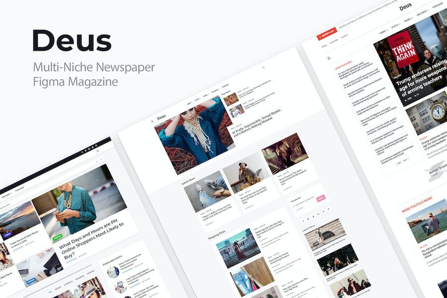Deus | Multi-Niche Newspaper Figma Magazine