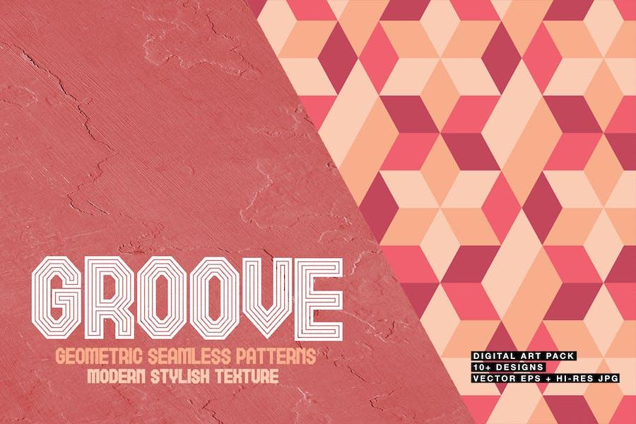 Groove-Geometric Seamless Patterns
