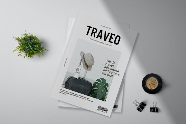 Cover Image For Traveo - Plantilla de Revista