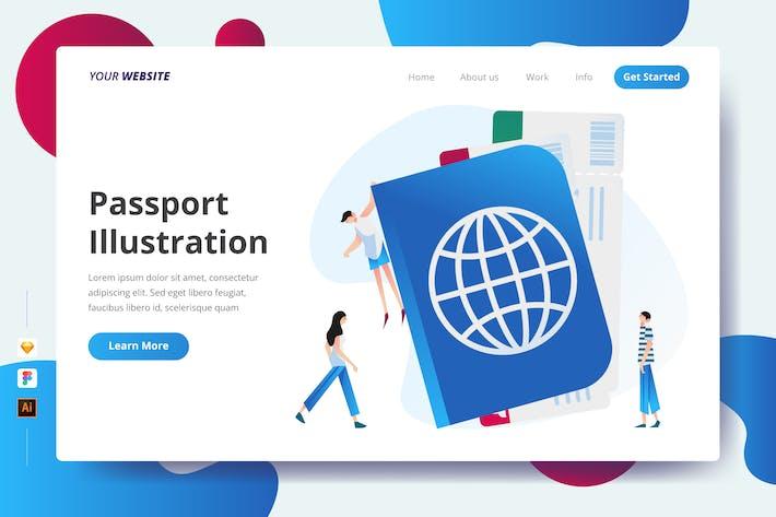 Passport Illustration - Landing Page