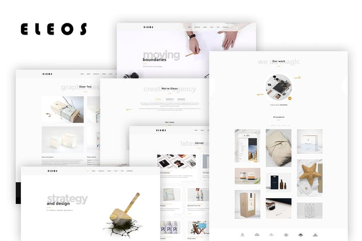 Cover Image For Eleos - One-Page Creative Template