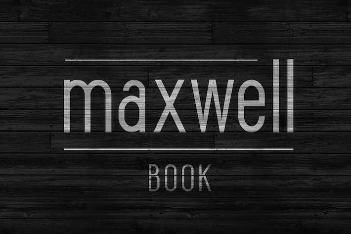 Thumbnail for Maxwell Sans Book Libro Negro