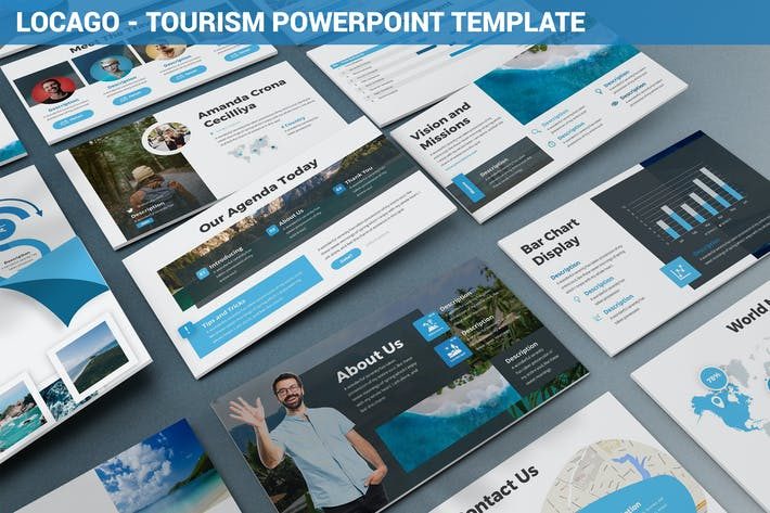 Thumbnail for Locago - Tourism Powerpoint Template