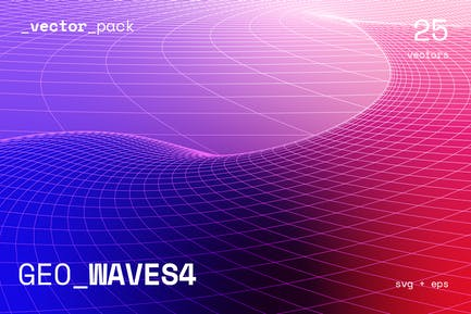 GEO_WAVES4 Vector Pack