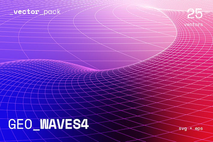Thumbnail for GEO_WAVES4 Vector Pack