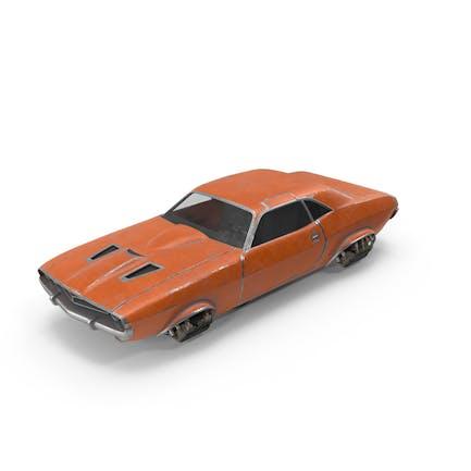 Fliegendes Auto Orange