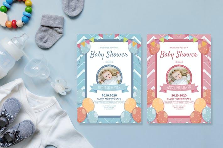 Thumbnail for Einfache Feier - Babyparty-Einladung