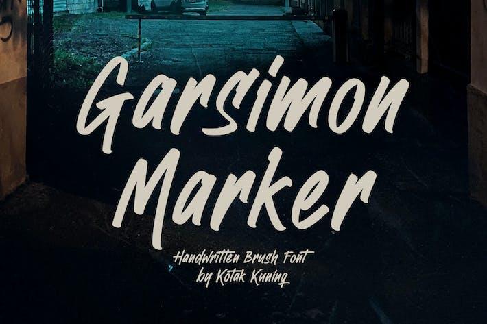 Thumbnail for Garsimon Marker - Brush Font