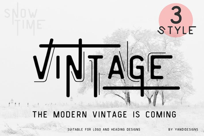 Cover Image For Vintage Modern Fonts