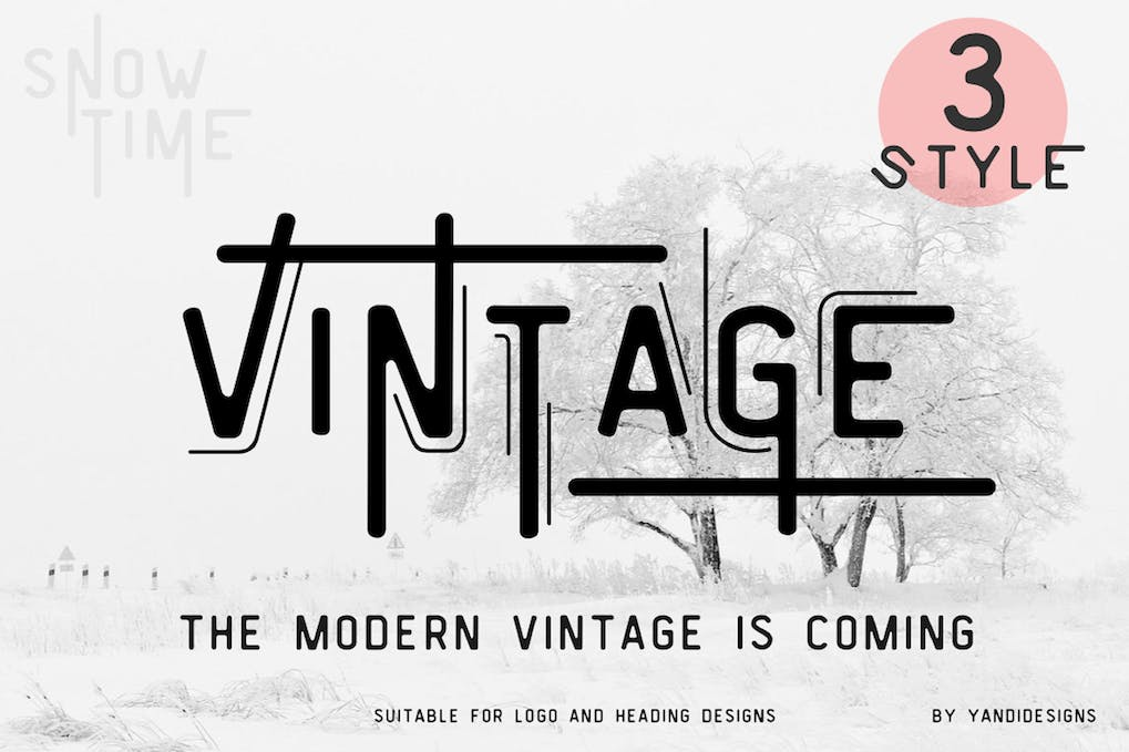 Vintage Modern Fonts By Yandidesigns On Envato Elements