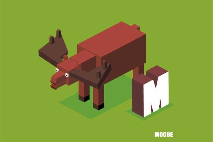 Thumbnail for M for Moose. Animal Alphabet