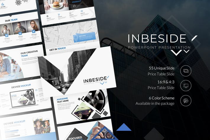 Thumbnail for Inbeside Powerpoint Presentation Template