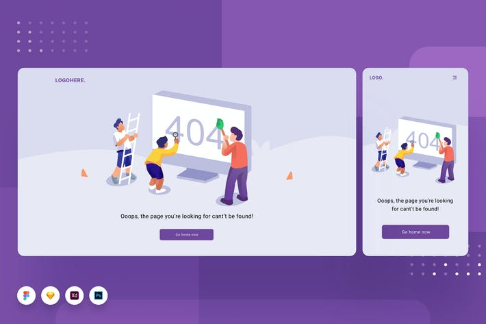 Thumbnail for Error Page Template 02