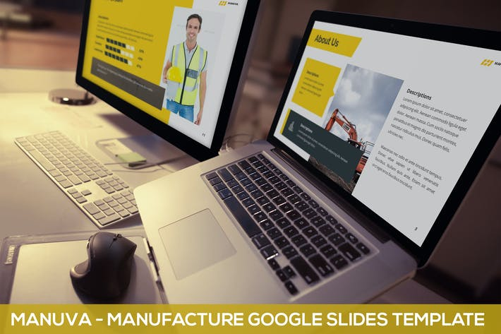 Thumbnail for Manuva - Manufacture Google Slides Template