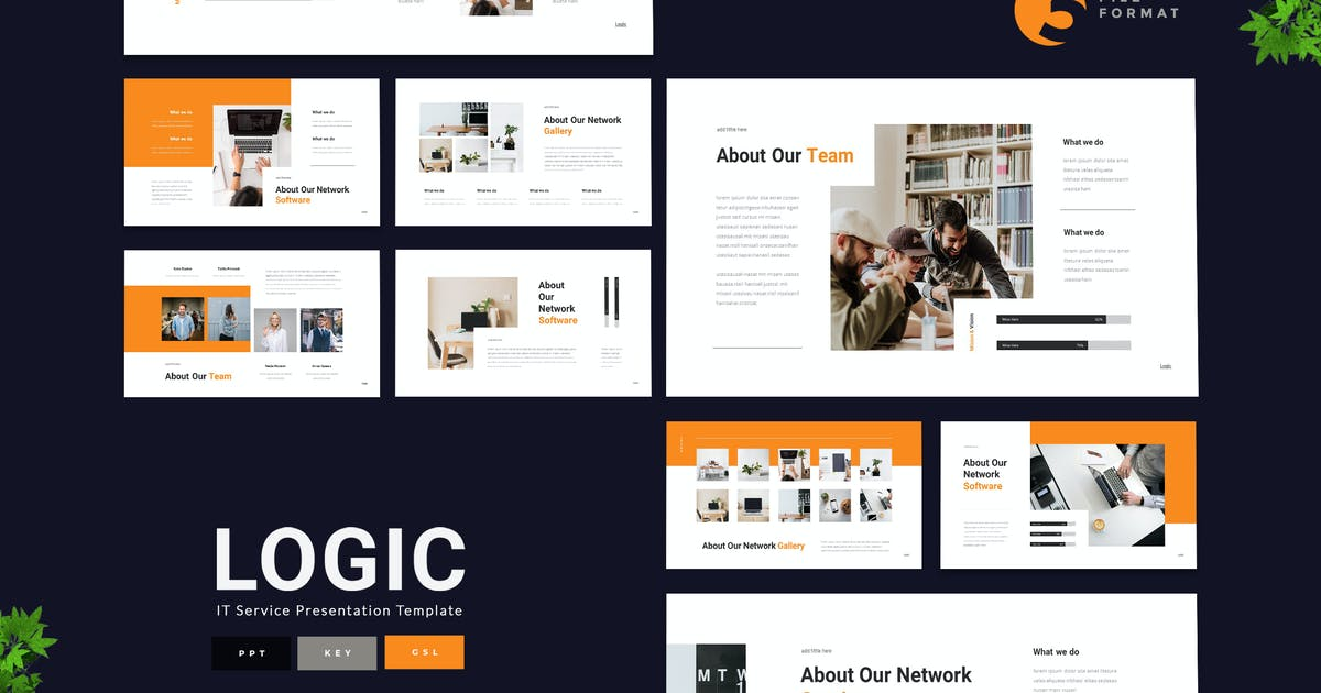 Download Logic - IT Service Presentation Template by naulicrea