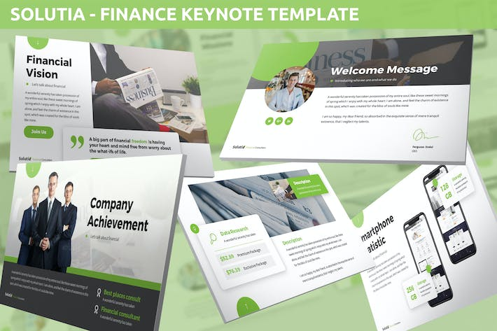 Thumbnail for Solutia - Finance Keynote Template