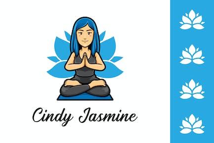 Yoga Coach Logo - Mascot