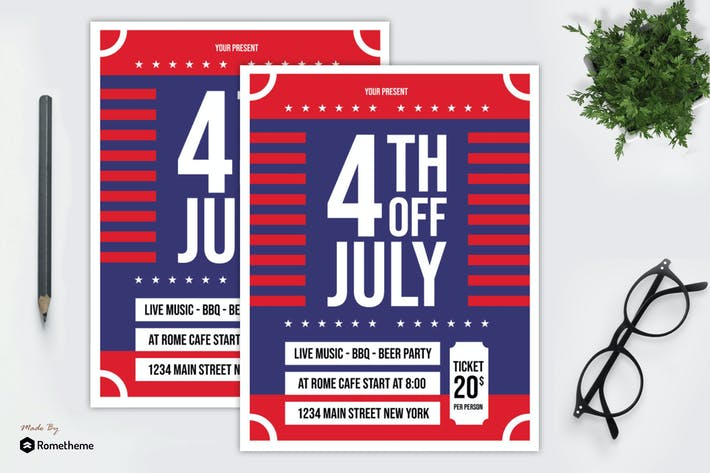 Thumbnail for 4th Of July Flyer vol. 02