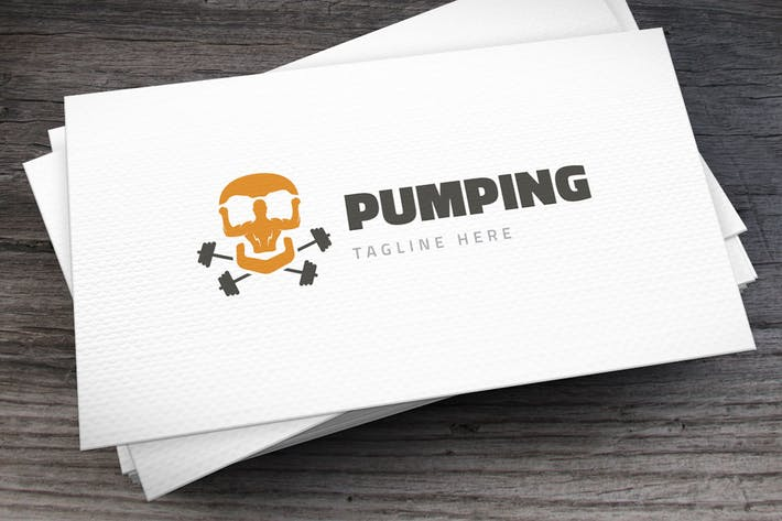 Thumbnail for Pumping Mad Logo Template