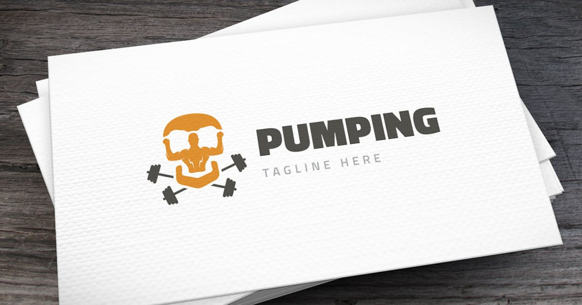 Pumping Mad Logo Template by empativo