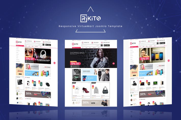 Thumbnail for Rikito - Responsive VirtueMart Joomla Template