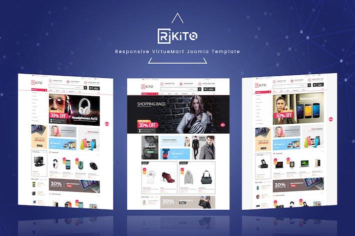 Thumbnail for Rikito - Responsive VirtueMart Joomla Modèle