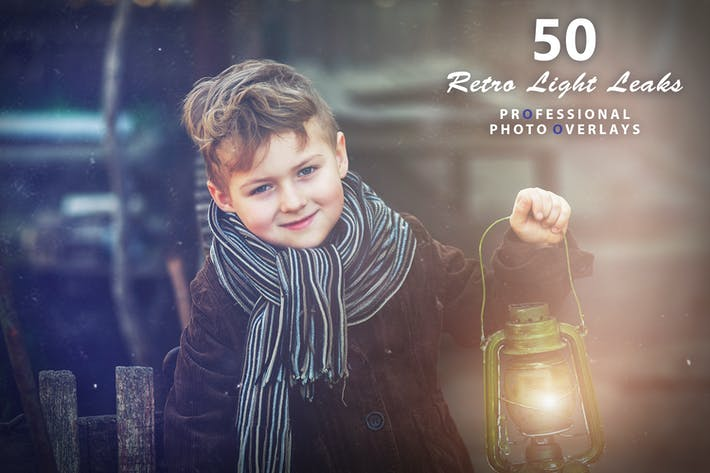 Cover Image For 50 Retro Light Leaks Photo Overlays