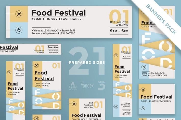 Food Festival Banner Pack Template
