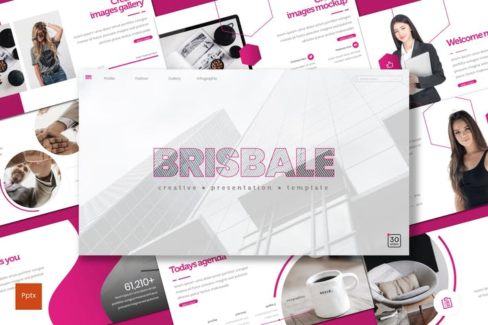 Thumbnail for Brisbale - Powerpoint Template