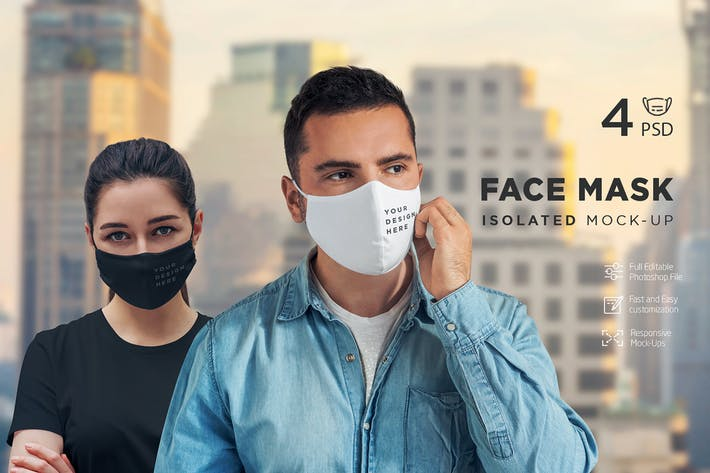 Thumbnail for Face Mask Isolated Mock-Up