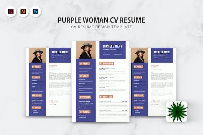 Thumbnail for Purple Woman CV Resume