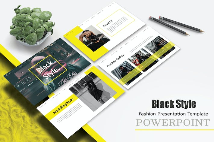 Black Style - Powerpoint Template