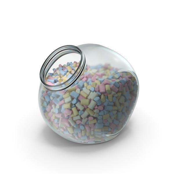 Spherical Jar with Marshmallows